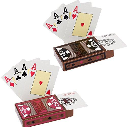 2 Cartes de Jeu Texas Holdem Poker Cartes de Poker étanches Cartes de Jeu en Plastique de Cartes à Jouer PVC Professional Premium
