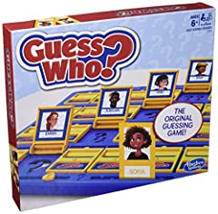 THE ORIGINAL GUESSING GAME: This edition of the Guess Who? game features classic tabletop boards, 24 Mystery cards and 48 Face cards INTERACTIVE GAME FOR KIDS: Kids can have loads of fun as they use yes or no question to guess each other's mystery ch...