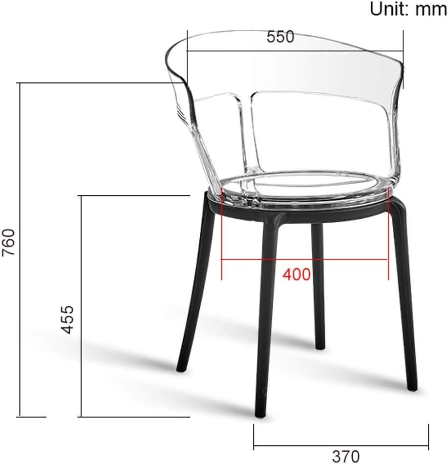 SLL- Chaise de Salle, Chaise de Bureau Simple, créative Dossier, Chaise Loisirs, Maison Adulte Chaise de Salle Moderne (Color : Black-B) Black-b