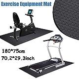 dDanke 180x75cm Multi-function Exercise Mat 4mm Protective Flooring Mat for Treadmills Fitness Equipment
