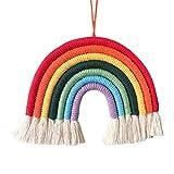 Regenbogen und Wolken Kinder Wand Dekor Garn Wandbehang Baby Dusche Geburtstag Hochzeit Foto Kinderzimmer hängende Dekoration
