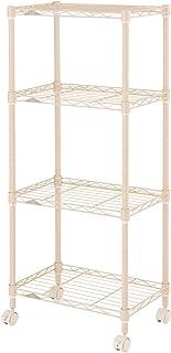 ドウシシャ(Doshisha) メタルラック本体 ベージュ 商品サイズ:幅45.5×奥行29.5×高さ104cm 4段 WEB限定 エリソンカラー LCR45-4BE