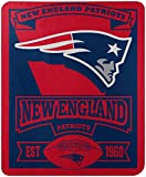 Officially Licensed NFL New England Patriots 'Marque' Printed Fleece Throw Blanket, 50' x 60', Multi Color