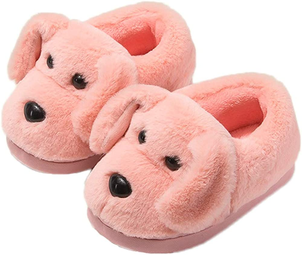 Discount mail order favorite JadeRich Unisex Furry Lovely Dog Short Slippers Upper Heel Plush