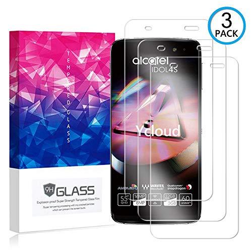 Ycloud [3 Pack] Protector de Pantalla para Alcatel Idol 4S(5.5 Pulgada),[9H Dureza/0.3mm],[Alta Definicion] Cristal Vidrio Templado Protector para Alcatel Idol 4S(5.5 Pulgada)