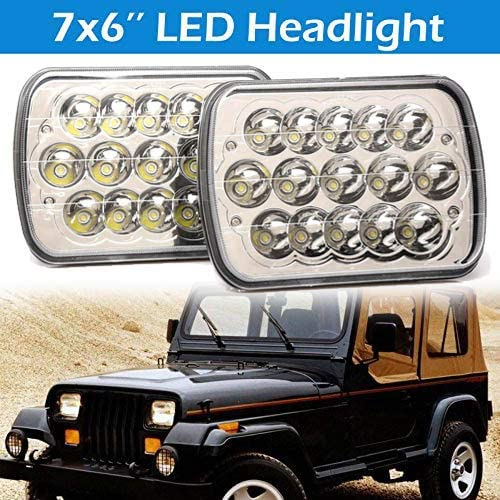 """new arrival 7x6"""" 2021 LED Headlight Hi/Lo Beam H6014 online / H6052 / H6054 For Jeep Wrangler XJ YJ Pack of 2 sale"""