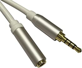 MyCableMart 15ft Premium 3.5mm 4 Conductor TRRS/3 Band + Mic or Video Extension Cable