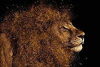 N/D 大人の大きなジグソーパズル1000ピースのジグソーパズルゲーム子供のためのジグソーパズルのギフト子供のため(動物のライオン)