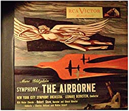 SYMPHONY THE AIRBORNE 78 RECORD ALBUM 7 RECORD SET DM-1717 LRONSRF BERNSTAIN CONDUCTOR NY CITY SYMPHONY ORCHESTRA,RCA VICTOR CHORALE, ROBERT SHAW NARRATOR & CHARLES HOLLAND & WALTER SCHEFF SOLOISTS RECORDRAMA