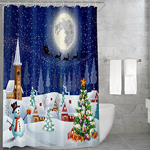 Shower Curtain,Carttiya Christmas Bathroom Curtains...