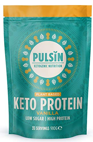 Pulsin Plant-Based Keto Powder in Vanilla Flavour, 980 g