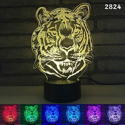 Sloppy Elephant Rat Papagei Tier 3D Nachtlicht Acryl Stereoskopische Illusion 7 Farbe Kinder Freunde Geschenk Spielzeug
