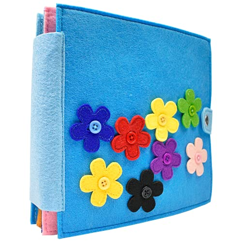 DeFieltro Libro Sensorial de Fieltro Montessori para Bebes y Niños. Libros en Tela para Bebe - Cuento Blando e Interactivo con Texturas - Paneles Quiet Book.