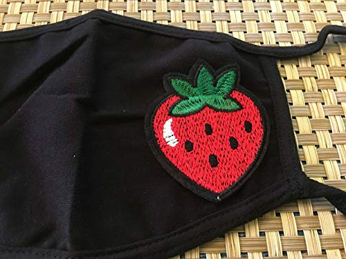 Strawberry Berry Red Fruit Design Face Mask Cotton Blend Face Covers Dust Covering for Kids and Adults, Washable and Reusable Unisex Double Layer