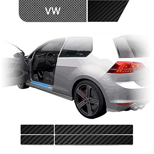 BLACKSHELL Einstiegsleisten Schutzfolie + Premium Rakel für Golf 7 AU Limo & Kombi 2012-2019 (auch Facelift) Carbon Matt - SET für alle Einstiege mit Anleitung - passgenaue Lackschutzfolie