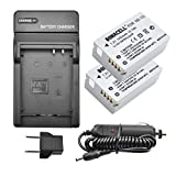 Bonacell NB-10L Battery and Charger Kit Compatible with Canon CB-2LC Charger and Canon PowerShot G1 X, G3 X, G15, G16, SX40 HS, SX50 HS, SX60 HS Digital Cameras