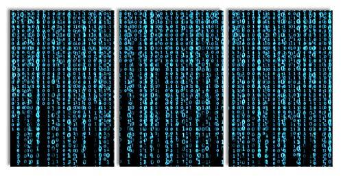 Pixxprint Matrix als XXL Leinwandbild in Übergröße 240x120cm Gesamtmaß 3 teilig | Wandbild | Kunstdruck