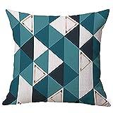Dragon868 Kissen Hülle Geometrische Muster Tiermalerei Leinen Pillowcase Dekorative Kissen...