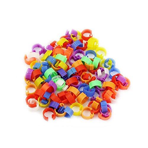 Pohove Ring, 100 Stück, Universal, Garten, zufällige Farbe, 8 mm, robustes Zubehör, praktisch