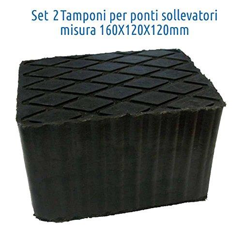 AR.TRADE Kit TAMPONI in Gomma per Ponti Sollevatori H 120 2pz corghi ravaglioli omcn