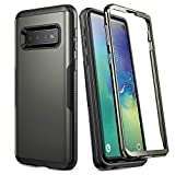 YOUMAKER Case for Galaxy S10, Gun Metal Heavy Duty Protection Full Body Shockproof Slim Fit Without Built-in Screen Protector Case Cover for Samsung Galaxy S10 6.1 inch (2019) - Gun Metal
