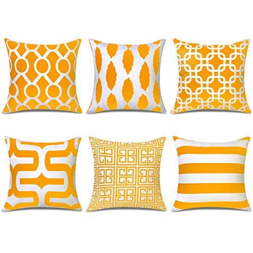 geometrict Pattern 2- 45 x 45 cm Confezione di 4 copricuscini decorativi in cotone e lino 2