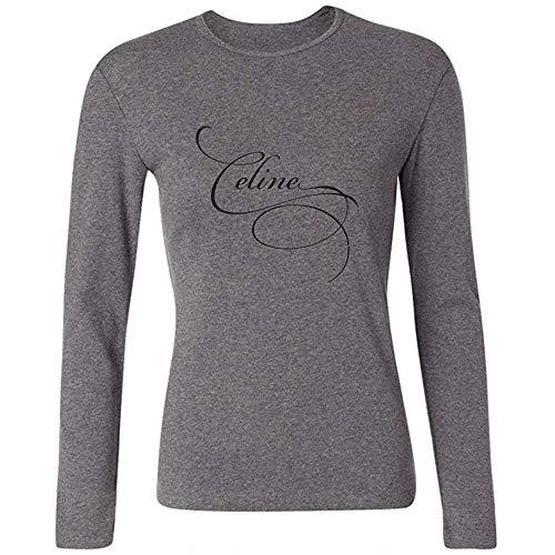 Christine Sample Women's Celine Dion Pop Singer Logo Long Sleeve T-Shirt L