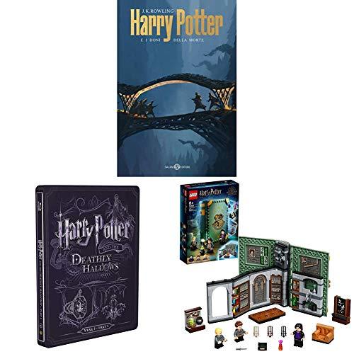 Harry Potter E I Doni Della Morte - Parte 01 (Steelbook + Libro) + LEGO Harry Potter Lezione di Pozioni a Hogwarts, Playset da Collezione