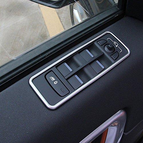 Für Discovery Sport ABS verchromt Fenster Lift Schalter Rahmen Rand Aufkleber 4