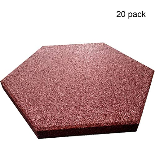 RevTime Hexagon Rubber Pavers 10-1/2