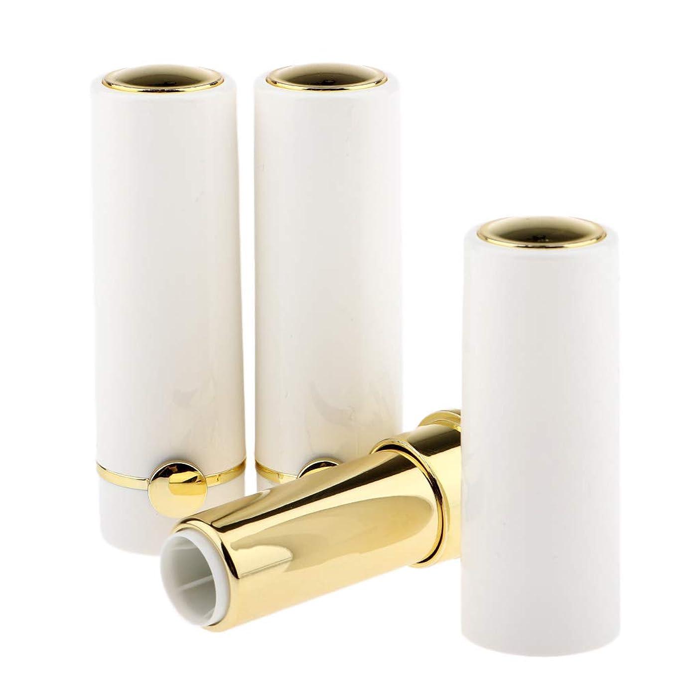 ドーム近々申し立てるCUTICATE リップクリームチューブ DIY工芸品 化粧品 詰め替えボトル リップグロスチューブ 12.1mm 全3色 - ホワイト