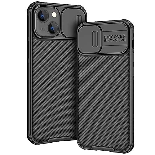 AROYI Funda Compatible con iPhone 13 Mini,  Tapa Deslizante para la cámara Funda Compatible con iPhone 13 Mini (2021) 5, 4 Pulgadas -  Negro