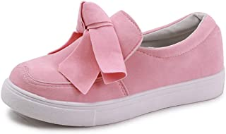 T-JULY Women Loafers Plus Size Platform Slip on Bowtie Flat Shoes Sewing Casual Bowknot