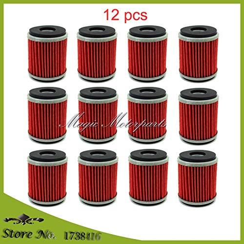 12x Ölfilter Yamaha YZF R125 125 WR 125R 125X YZ 250 250F 450F 450 WR250F WR450F WR250X WR250R YZ450F YZ250F YZ250 YFZ450