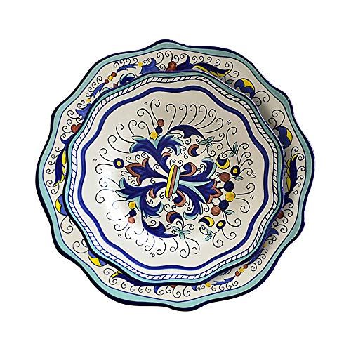 Piezas de porcelana redonda Juego de vajilla de porcelana Juego de vajilla de vajilla multicolor (2 piezas)