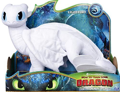DRAGONS Drago Furia Chiara, Peluche Deluxe Alto 36 cm, dai 4 Anni in su