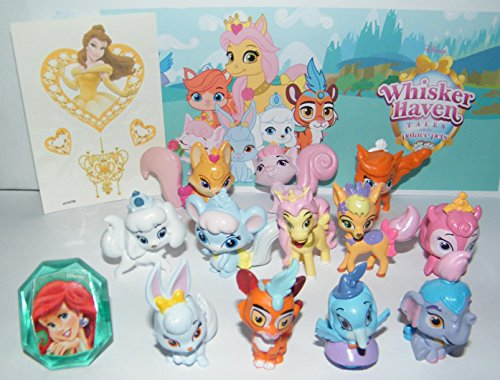 Palace Pets Disney Whisker Haven Tales with The Deluxe Figure Set of 14 Toy Kit with Figures, Tattoo Sheet, ToyRing Featuring Dreamy, Sultan, Ms. Featherborn and More!