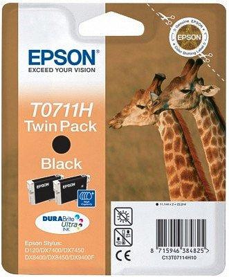 2x XL Epson Patronen für Epson Stylus DX 8450, HC Twinpack (2x XL Black Schwarz) Druckerpatronen für DX8450, je 8ml