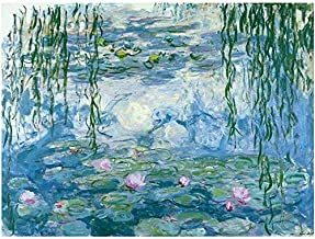 Drop Shipping Claude Monet Water Lilies Diamond Embroidery Round Wall Art Diy Diamond Painting For Living Gift No Frame Ho...