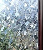 LMKJ Película Decorativa de Cristal 3D para Ventana de vidriera, Pegatina de Vidrio autoadhesiva extraíble, Papel de Ventana de Vinilo Adhesivo estático M 30x200cm