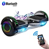 CBD 6.5' Hoverboard with Bluetooth Speaker, Self Balancing Hoverboard for Kids with LED Lights, UL 2272 Certified, Chrome Black