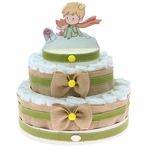 Viale Magico Tarta de pañales para bebé con diseño de Pequeño Principio, ideal como regalo de nacimiento, económica, original