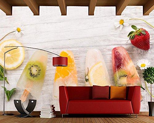 Yosot Snoepjes Ijs Fruit Voedsel Foto 3D Behang Bank Slaapkamer Tv Achtergrond Woonkamer Keuken Bar Aangepaste Muren 300cmx210cm