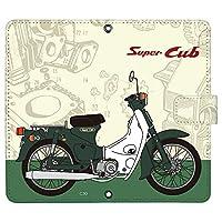 Galaxy A20 SC-02M ケース [デザイン:02.C50(Green)/マグネットハンドあり] Honda Super CUB スーパーカブ 手帳型 スマホケース カバー ギャラクシーa20 sc02m