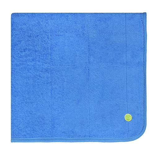 PeapodMats Waterproof Reusable & Breathable Bedwetting Incontinence Mattress Protector Pad -Cobalt 3x3