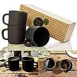 bambuswald© ökologische Kaffeetasse mit Henkel - 480ml | 3 Stück - groß, nachhaltig,...