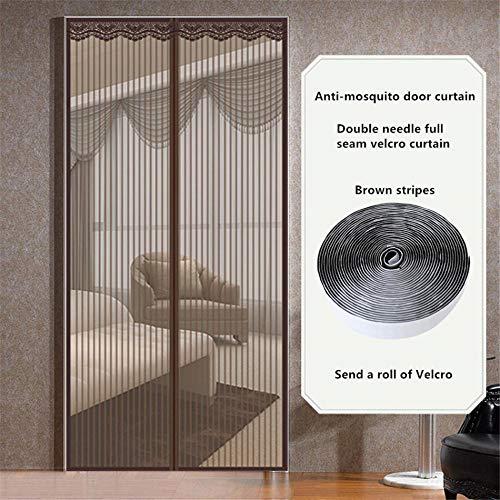LMWB Magnetisch muggennetgordijn, magnetisch muggennet, voor deurmuggengordijn, ideaal voor deur, terras, gangen, voorkomt muggen 180 x 210 cm.