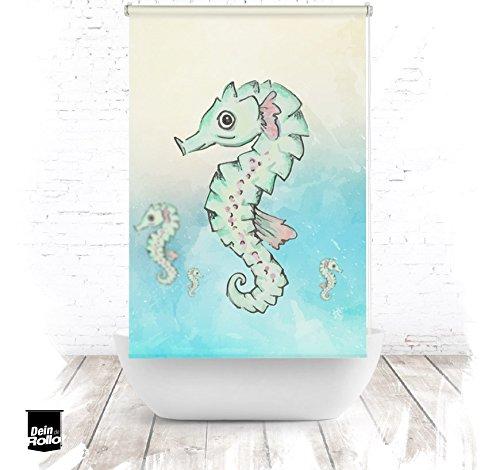 ERSATZ KLEINE Wolke Duschrollo für Leerkassette Seepferd Textil Badewanne