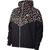 Nike Chaqueta NSW HRTG JKT WVN FLORAL Schwarz/Weiß L