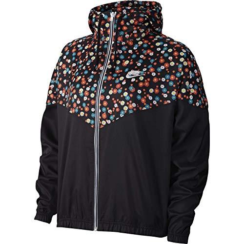 Nike Jacke NSW HRTG JKT WVN FLORAL Größe: L Farbe: Black/White